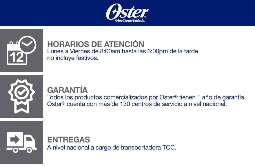 Información de interés Oficial Oster Colombia en MercadoLibre