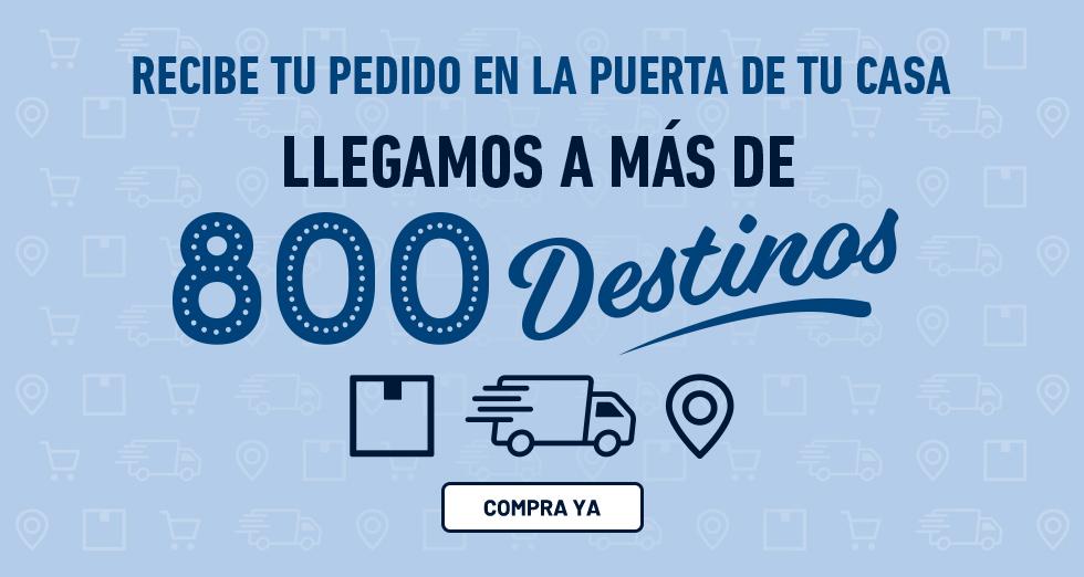 800 destinos